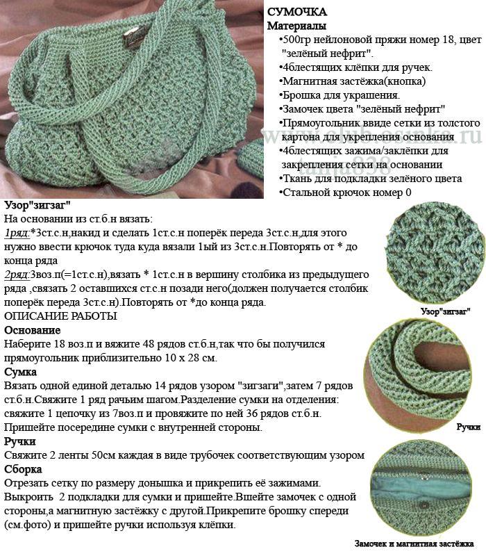 Сумка вязание крючком